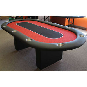 BRAND NEW: 9ft POKER TABLE ELITE RED FWITH BOX STYLE LEGS
