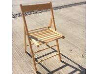 John Lewis Beech Fold Away Chairs