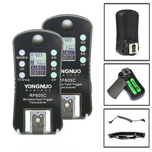 Yongnuo RF-605C LCD Wireless Flash Trigger for Canon Camera  RF-602 RF-603 II UK