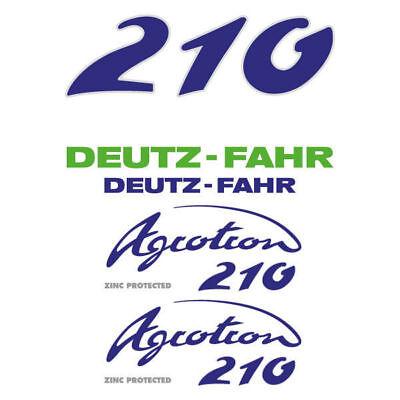 Deutz-fahr Agrotron 210 Tractor Decal Aufkleber Sticker Set
