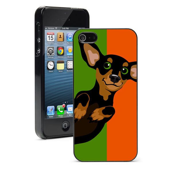 For iPhone X SE 5 5S 5c 6 6s 7 8 Plus Hard Case Cover 907 Orange Green Dachshund