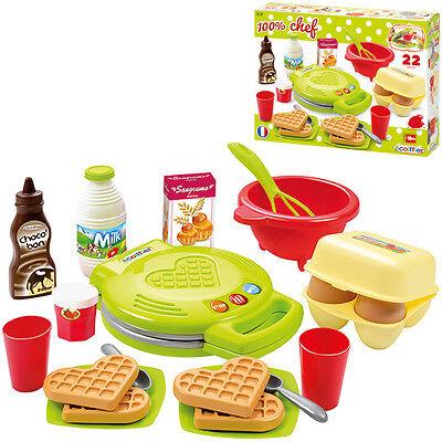 Ecoiffier Waffeleisen mit Zubehör für Kinderküche Spielzeug Waffeln Zubehör NEU