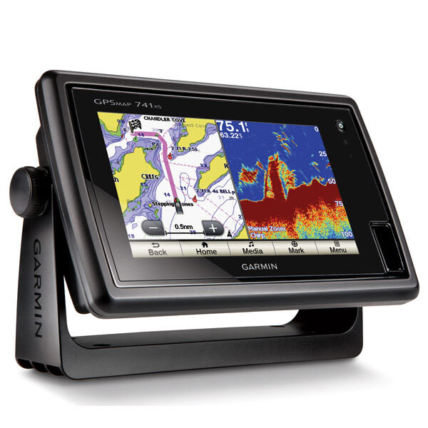 garmin gpsmap 547xs fish finder gps combo with transducer | ebay, Fish Finder