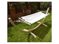 Large Stylish Cayman Garden Hammock with Stand - NEW