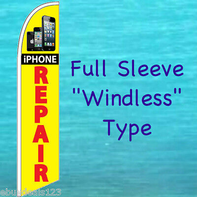 iPHONE REPAIR WINDLESS FEATHER FLAG Cell Phone Swooper Flutter Tall Banner - Flag Banner