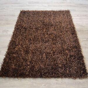 Espresso brown color shaggy carpet/rug 5x8