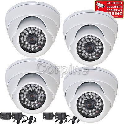 4x Security Cameras 700TVL w/ SONY EFFIO CCD Outdoor IR Day Night Wide Angle mgb