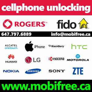 Unlock any Rogers or Fido Cell Phone