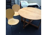 Table (folding ) plus 2 chairs. £30
