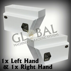 1 x NEW Pair of White Underbody Under Tray Steel Ute Trade Workman To