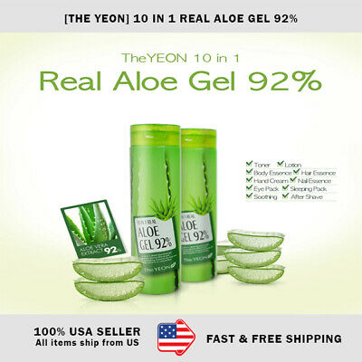 [THE YEON] 10 IN 1 REAL ALOE GEL 92%, 300ML (Korean Cosmetics) - US SELLER