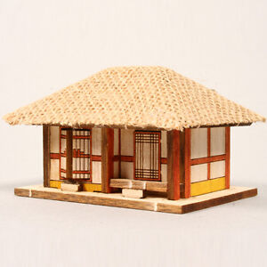Ym611 Ho Series Straw Roofed House Wooden Model Kit