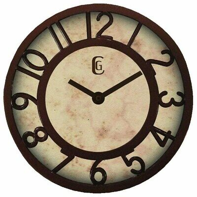 8.25 Antique Finish Plastic Wall Clock,No 4432G,  Geneva/Advance Clock Co