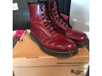 Dr Martens Cherry Red Boots - Size 8
