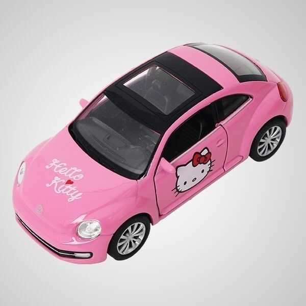 hello kitty beetle car die cast offcially licensed by volkswagen convitable car