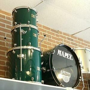 Mapex Venus Series Shell kit drum-Batterie 12-13-16ft-22bd - Vert - usagée-used