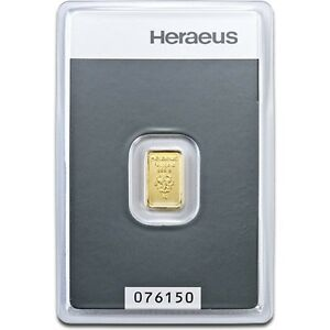 Lingot-or-1-gramme-or-pur-24-carats-999-1000-Heraeus-numerote-Suisse-1g