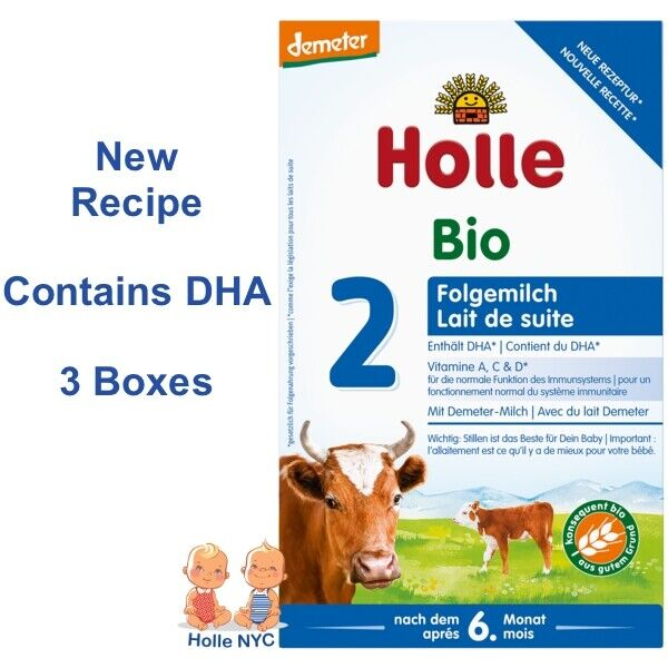 Holle Stage 2 Organic Infant Formula 3 Boxes 600g Free Shipping