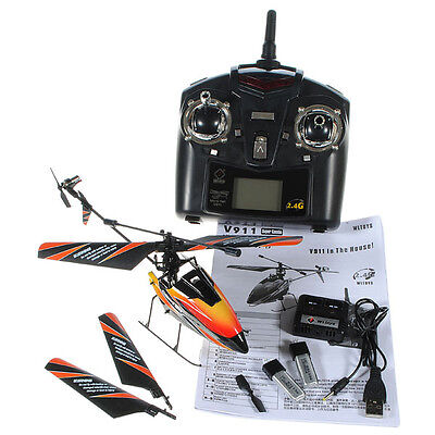New Battery Plug WLtoys V911 4CH 2.4G Radio Remote Control RC Helicopter w/GYRO on Rummage