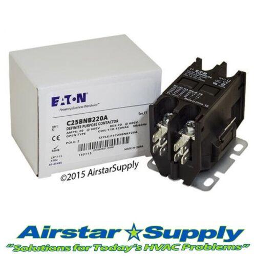 Eaton / Cutler Hammer # C25BNB220A (45CG20AF) 2 Pole 20A 120V Contactor