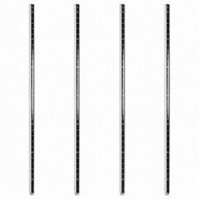 Chrome Epoxy  Stainless Steel Post Sets For Wire Shelving Nsf - 4 Posts