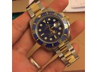 Rolex Oyster Perpetual Submariner Date 16613 LB Bimetal Steel and Gold Watch