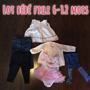 Lot bébé fille 6-12 mois