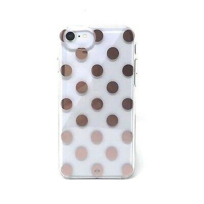 Kate Spade Protective Case Cover iPhone 8 7 6s 6 Large Polka Dot Rose Gold BNIB