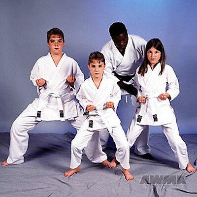 New Proforce Lightweight Karate Uniform Gi White W  White Belt Adult   Child