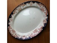 SERVING PLATE / MEAT PLATE LARGE & OLD