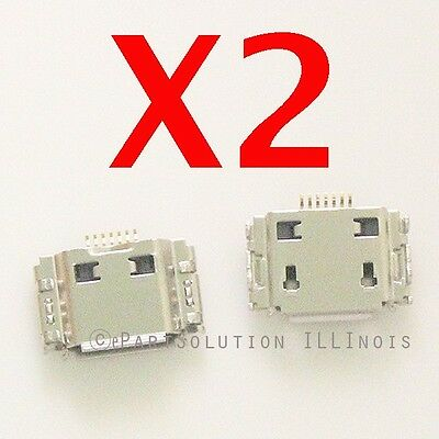2X Samsung Galaxy T959V T959  i9000 T989 I997 Micro USB Charger Charging Port for sale  Shipping to India