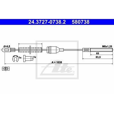 ORIGINAL ATE Handbremsseil Bremsseil Opel Corsa A ua. Bj.82-94