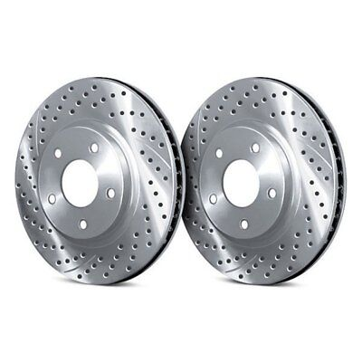 For Audi TT Quattro 12-15 Drilled & Slotted 1-Piece Front Brake Rotors