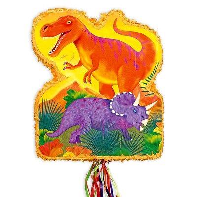 Pullpinata Dino Kindergeburtstag, 53 x 44 cm, zum Ziehen
