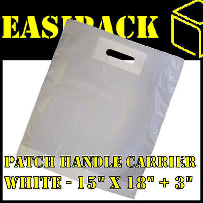 100 Strong WHITE 'PATCH HANDLE' 15