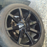 KMC Slide 22'' Rims + Tires