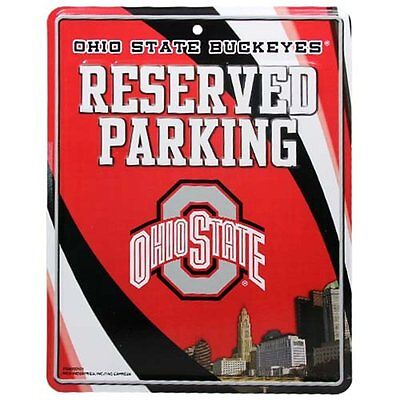 Ohio State Buckeyes 8 5 X11  Metal Reserved Parking Sign New Rico Industries
