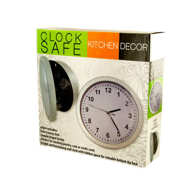 Kitchen Wall Clock Safe with Hidden Stash Compartment