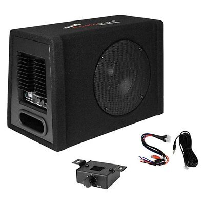 New 10  600W Powered Subwoofer Bass Speaker W  Enclosure Box Truck Active Amp