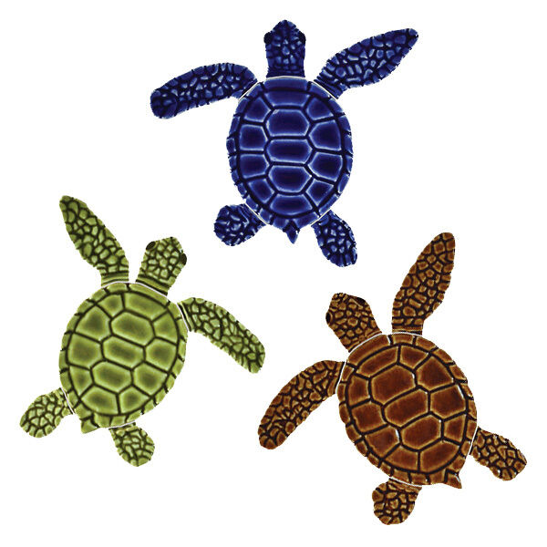 Mini Loggerhead Turtle Ceramic Swimming Pool Mosaic