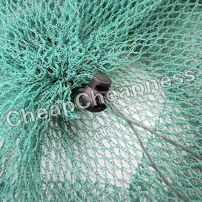 2 Layer Crab Fish Shrimp Minnow Fishing Bait Trap Cast Dip Net Cage 1w