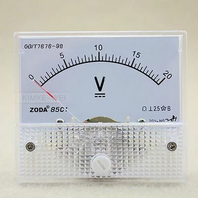 Dc 0-20v Analog Volt Voltage Panel Meter Voltmeter Gauge