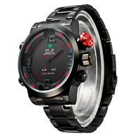 2014 WEIDE Men Watch Military 3ATM Dual Time LED Digital Analog