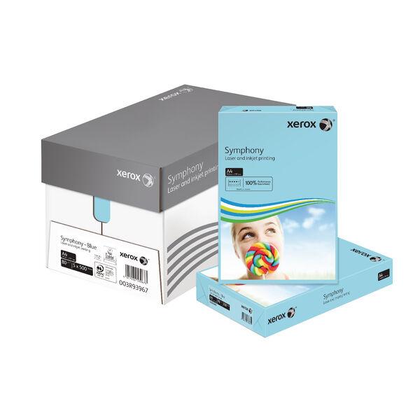 XEROX SYMPHONY A4 80GSM PASTEL TINTS BLUE PAPER 500 SHEETS PER REAM - 003R93967