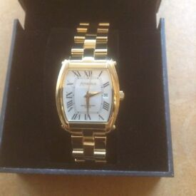 MENS AMADEUS GOLD PLATED WATCH