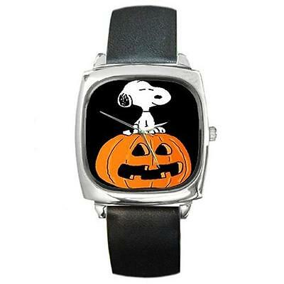 SNOOPY HALLOWEEN PUMPKIN SILVER-TONE WATCH 6 OTHER STYLES  (Watch Halloween 6)