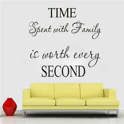Free Shipping Pretty Cool Wall Quote Clock Decal Vinyl Art Lettering Sticker NEW
