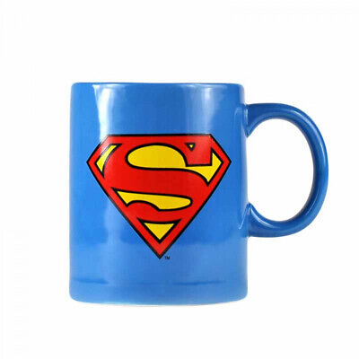 OFFICIAL SUPERMAN LOGO COFFEE MUG WITH COOKIE BISCUIT HOLDER CUP NEW GIFT BOX ()