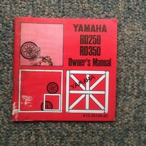 1973 Yamaha RD350 Owners Manual
