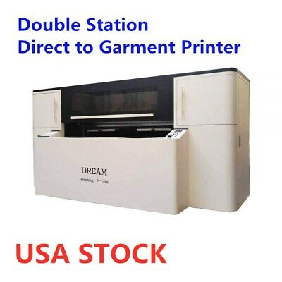 Usa Double Station Direct To Garment Printer With Industrial Printing Heads